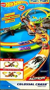 Hot Wheels GFH87 Colossal Crash Megs Track Set Play Set. New in Sealed Box.