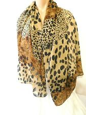 New Scarf Women Teen Light Weight US Seller Stock Animal Print Cheetah