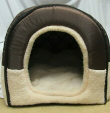 UK Pet Dog Cat Bed House Soft Mat Igloo Basket Bedding Kennel Warm.  21x17x16""