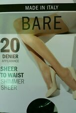 @@@ bare  size average black  sheer to waist shimner sheer 20 denier pantyhose
