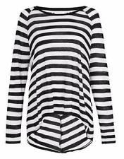 Size Regular Striped Long Sleeve Tops & Blouses for Women