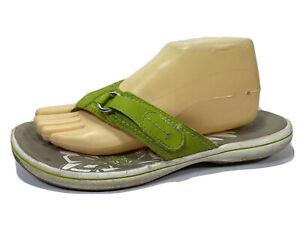 Clarks Green Flip Flop Sandals Womens 10 M