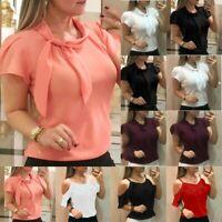 Women Boho Off Shoulder Strappy Ruffle Casual Chiffon Blouse Summer Tops T-Shirt