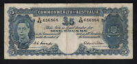 Australia R-48. (1952) Five Pounds. Coombs/Wilson -  George VI..  Fine