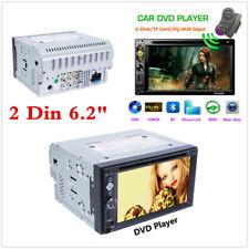 "6.2"" Touch Screen Car Stereo Radio DVD CD MP5 Player 2DIN USB TF Bluetooth 6620B"