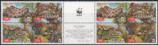 UKRAINE, 2002 WWF Naturschutz Schlangen 502/05 C im 4er Block-Paar  **, (17977)
