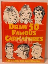 Draw 50 Famous Caricatures Lee J. Ames Mort Drucker First Edition Hardcover 1990