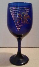 Vintage Anheuser Busch Cobalt Blue Wine Glass Budweiser