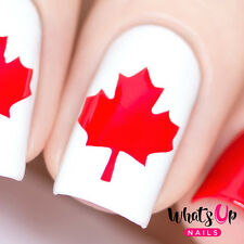 Canadian Flag Stencils for Nails, Nail Stickers, Nail Art, Nail Vinyls