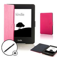 De Cuero Rosa Shell Smart Funda Protectora Para Amazon Kindle Paperwhite 2015 + Stylus