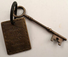 Long Branch Solid Brass Western Inspired Brothel House Key Room Tag #B-43