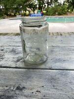 RB 1643 Mason Pint Fruit Jar Citron Colored Rare Color!