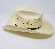 Serratelli Bangora White Cowboy Hat Pre Owned Well Kept 7 3/8 USA