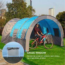Large 6-8 Person Man Tunnel Family Camping Tent Waterproof PU 3000MM with Bag