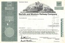 Norfolk and Western Railway Compagny Certificate 1978 (411470)