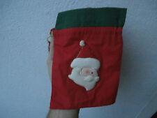 Sacchetto regalo Natale christmas gift bag confezione Babbo