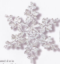 Crochet Pattern ~ FROSTY SNOWFLAKE Christmas Ornament ~ Instructions