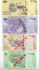 CONGO,4 DIFF. SPECIMEN BANK NOTES, VERY SCARCE, FULL SET, UNC,BIRDS ON BANKNOTES