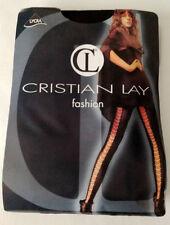 Lingerie sexy : collant femme noir opaque bande arrière large résille - t.unique