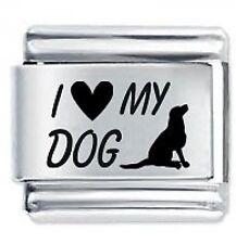 I Love il mio cane - 9mm DAISY CHARMS da JSC accoppiamenti Classic Taglia Italiana Bracciale con Charm