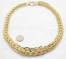 Technibond Graduated Round Byzantine Necklace 14K Yellow Gold Clad Silver 50.20g