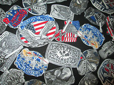 COUNTRY WESTERN BELT BUCKLES MUSIC GUITARS MORE COTTON FABRIC FQ