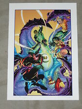 JUSTICE LEAGUE #50 COVER ART PRINT - ARTIST PROOF - ONE OF ONE - SIGN BY JIM LEE