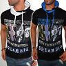 T-shirt manches courtes pour les hommes Capuche Tête de mort Chemise à slim NEUF