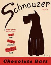 SCHNAUZER BARS KEN BAILEY ART PRINT 22x28 poster vintage kitchen advertising