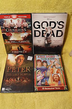 NEW/SEALED 5 DVD SET! COURAGEOUS+ FACING GIANTS+ FIREPROOF+ PETER+ GODS NOT DEAD