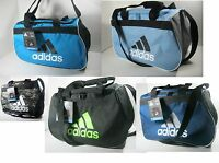 f009e8df0b43 ADIDAS Diablo Duffel Bag ONYX GRAY WHITE TOP ZIP CLOSURE Fits Gym ...
