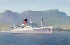 More details for rms pendennis castle union castle liner marine painting art print - 14.5