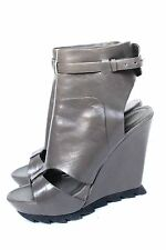 £785 Camilla Skovgaard Grey Sandal Wedge Boot 38 uk 5
