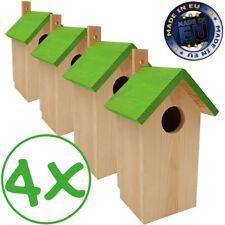 4x Nistkasten Vogelhäuschen Vogelhaus Nisthaus Meisenkasten Vogelnistkasten Holz