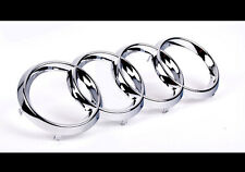 Audi Rings Chrome Grill Front Hood A3 S3 A4 S4 RS4 A5 S5 A6 S6 TT Badge Emblem -
