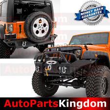 07-17 Jeep Wrangler JK Full Width Front Bumper+Rear Bumper Combo+Fog Light Hole