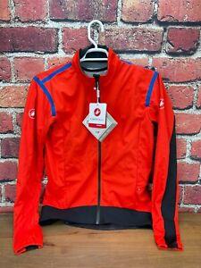 New! Castelli Alpha RoS 2 Light Jacket Men's XXL Jacket Rosso Corsa Gore-Tex