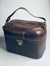 Vintage Sears Roebuck Vinyl Overnight Travel Train Case Suitcase w/ Mirror