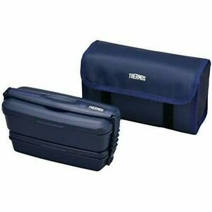 THERMOS Fresh Lunch Bento Box DJB-905W NB Blue 4562344361958 B077D44VD9