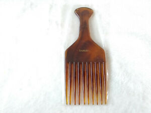 """NOS Vintage Stanley Home Products Hair Pick Comb Faux Tortoiseshell 6"""" France"""