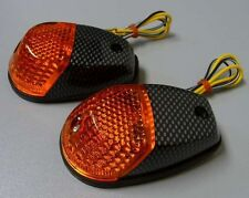 Motorcycle Turn Signal Blinker Surface Mount Am/Carbon