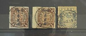 China imperial dragons used x 3; used repaired damages