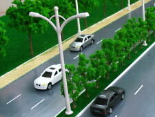 10pcs N/Z SCALE Double Head Lamp Post Street Lights Lampposts 6V 5.5cm