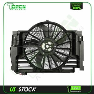 A/C Condenser Cooling Fan Assembly For 2000 2001 2002 2003 2004 2005 2006 BMW X5