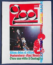 rivista CIAO 2001 38/1976 POSTER Hendrix Elton John Van Der Graaf Sly Stone Nocd