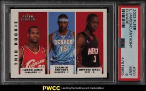 2003 Fleer Tradition Dwyane Wade LeBron James Carmelo Anthony ROOKIE #300 PSA 9