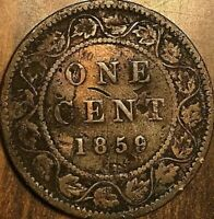 1859 CANADA LARGE CENT COIN LARGE 1 CENT PENNY - Damaged