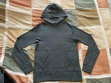 Wings + Horns charcoal grey heather pullover hoodie sweatshirt S mens NEW