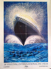 "CANNES FILM FESTIVAL 1982  ORIGINAL OFFICIAL POSTER approx 65"" x 47"" on linen"