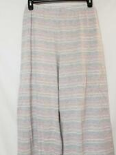 NWT Charter Club Intimates PJ / Lounge Pants Grey & Pink Striped Print XXXL